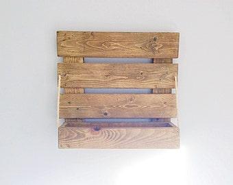 Handmade rustic French Country style Reclaimed wood shelf / Storage / Wine rack / wall shelf Rustic