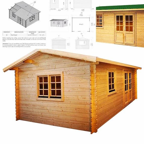 Eureka  Guest House Kit, Storage Shed Kit, Wooden Cabin Kit, Tiny House Kit.
