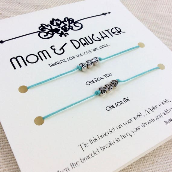 Christmas Gifts For Mom From Daughter.Mom Gift For Mom Gifts From Daughter Mother Daughter Gift Mother Daughter Bracelet Mom Birthday Mothers Day Card Jewelry Mothers Day Gift