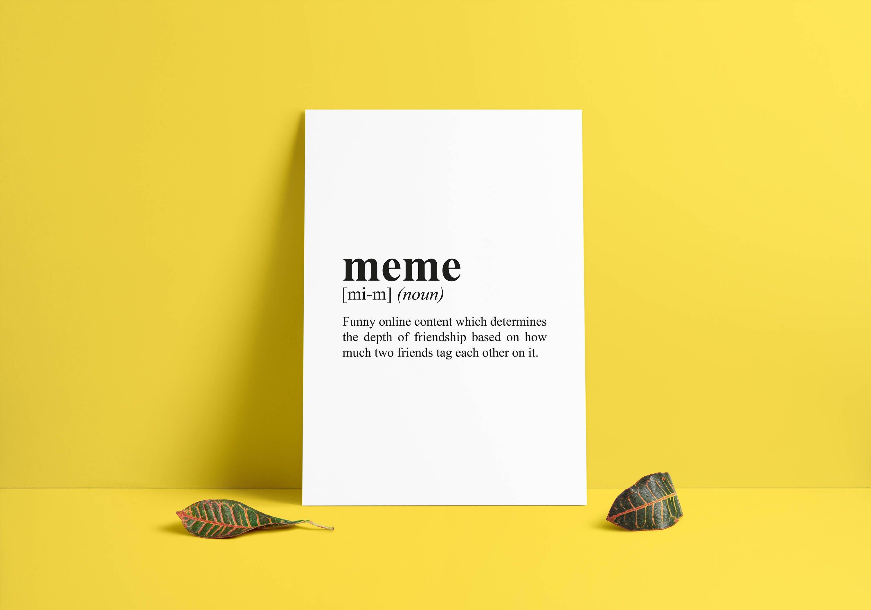 meme funny definition Room Decor Dorm Wall Art Dictionary