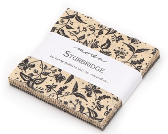 "CHARM PACK - Sturbridge by Kathy Schmitz for Moda Fabrics, Item #6070PP Charm Pack, 42 Professionally Precut 5"" Squares"