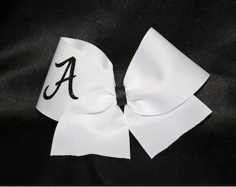 Single initial cheer bow