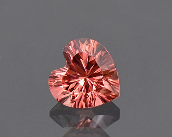 Stunning Concave Cut Pink Heart Tourmaline Gemstone from Afghanistan 2.02 cts.