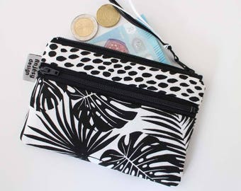 Tropical coin purse or change purse with an original ANJESY Design