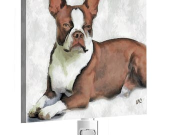 Boston Terrier ' Seely' - Night Light From Doggylips