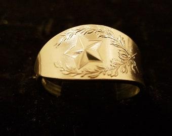 Texas sterling silver souvenir spoon ring
