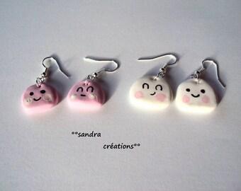 Earrings small kawaii clouds