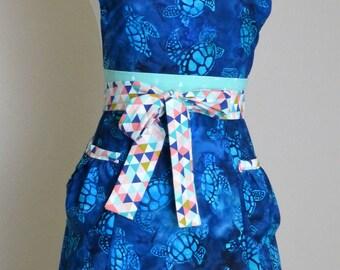Sea Turtle Apron, Women's apron - Laneymade
