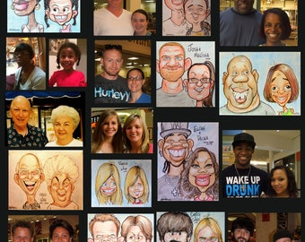 Custom Personalized Caricature Cartoon (Double Color Head and Shoulders) by Peter Battaglioli