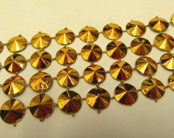 Metallic Gold Designer Braid/Gimp/Trim Craft/Haberdashery -xg1404