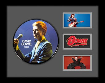 David Bowie - Fame - Picture Disc LP Album Custom Framed