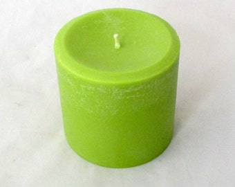 Sage candle, 3x3 pillar candle, candle centerpiece, scented soy candle, soy pillar candle,  wedding candle, holiday candle, candle decor