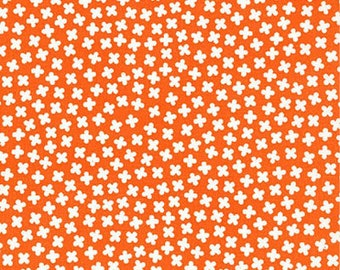 Rhoda Ruth by Elizabeth Hartman for Robert Kaufman Fabrics - 1/2 yard cut - # AZH 15454-8 Orange