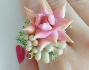 Adjustable Succulent Ring  ---- Little Garden * Nourish yourself