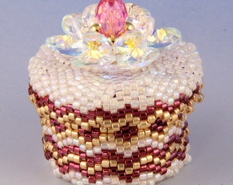 Beaded box n.6, 3D peyote tutorial