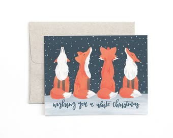 Wishing you a White Christmas Illustrated Card // 1canoe2