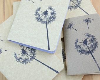 A5 Cahier Regular B6 Personal B6 Slim Dot Grid Dandelion Notebooks 3 PACK Fauxdori Travelers Notebook Insert Fountain Pen Paper Pastel Cream