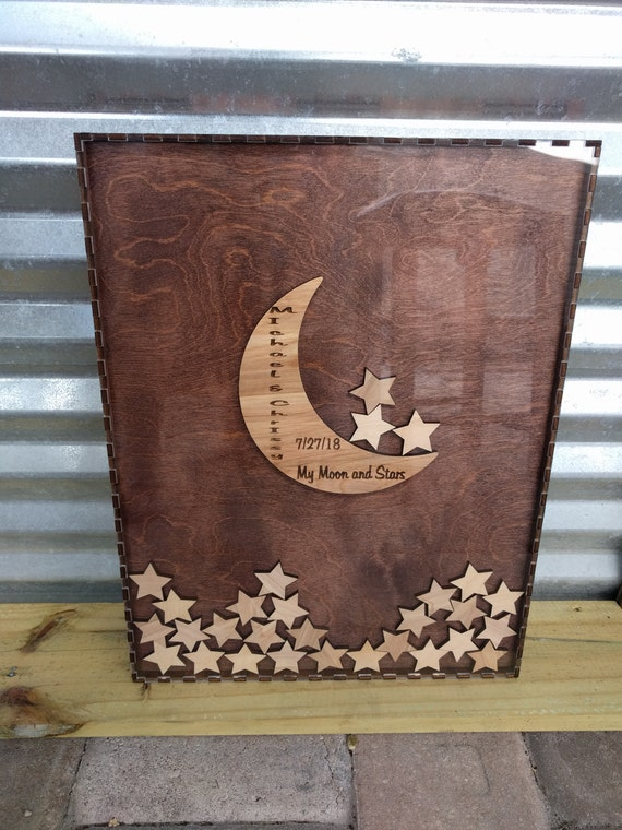Guest Book Moon And Stars Guestbook Alternative Box