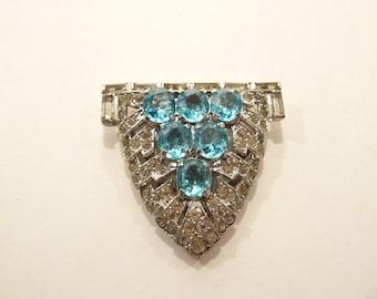 Gorgeous Vintage TRIFARI Rhinestone Dress Clip / Brooch
