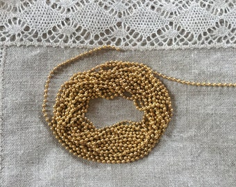 Antique Gold Ball Chain 2 mm
