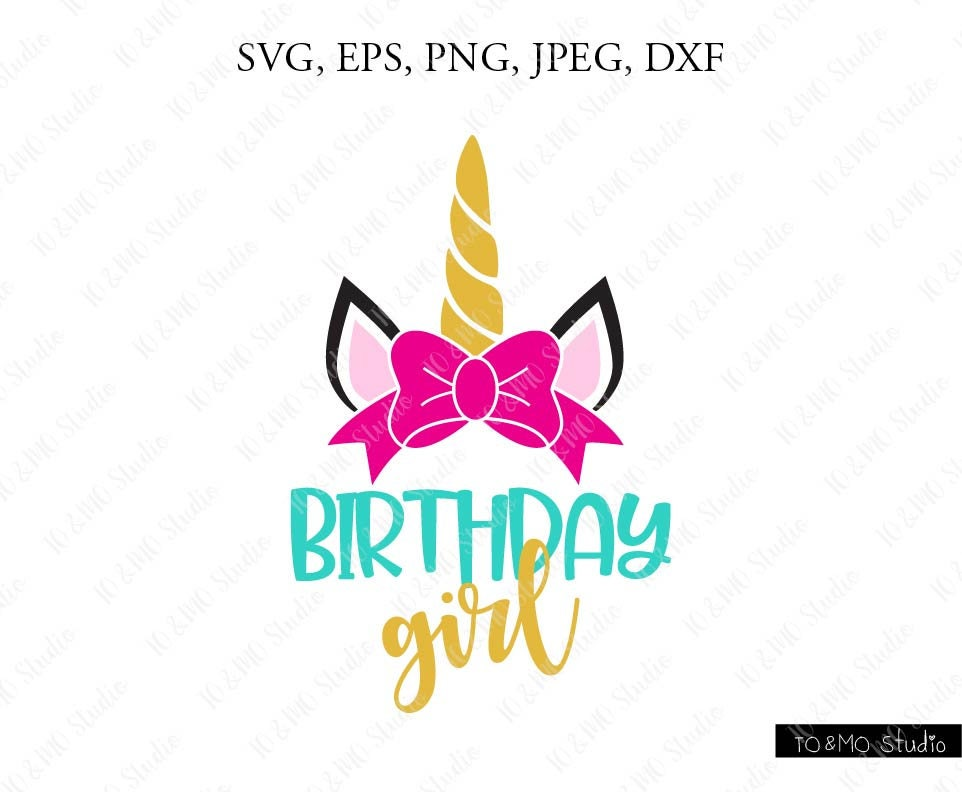 Unicorn Silhouette Birthday Girl Pictures To Pin On