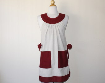 Pull Over Full Apron With Tie