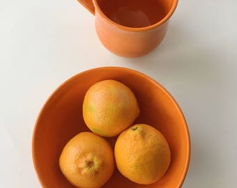 Kids Orange Dining Set - Handmade