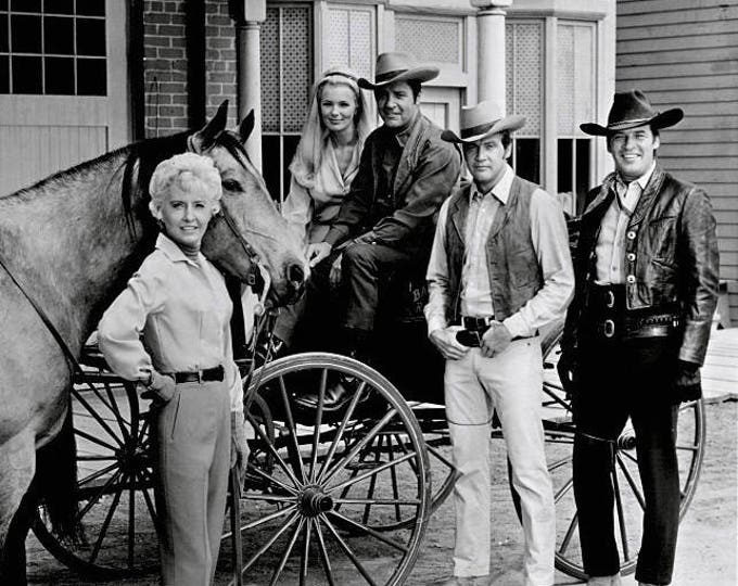 """Cast of """"The Big Valley"""" From the ABC Television Western Series - 8X10 Publicity Photo (DA-709)"""