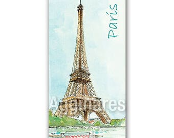 Fridge refrigerator magnet / Handmade travel souvenir / Paris France
