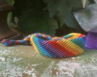 Candy Stripe Rainbow : Friendship Bracelet by knottybracelets.com