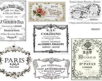ViNTaGe FRenCh AdVerTiSiNg LaBeLs ShaBby DeCALs