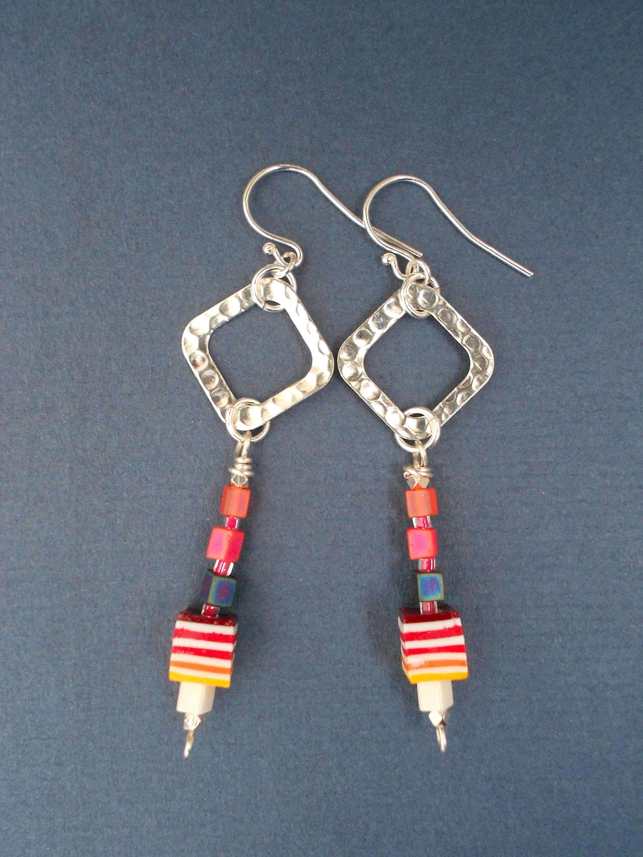 hanging earrings contemporary terracotta stud jewellery product