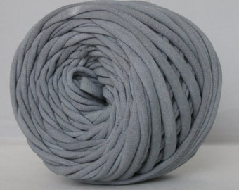 T-Shirt Yarn, Hand Dyed, Gray Tshirt Yarn, Grey T shirt yarn, 30 Yards
