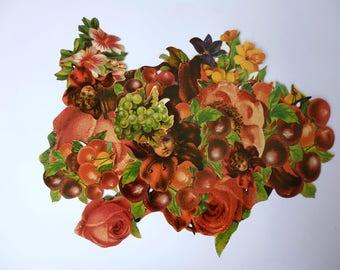 Diy Flowers Decoupage kit (19 cropped pcs)