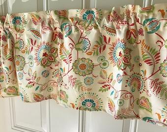 Fiesta Flower Kitchen Curtain Valance