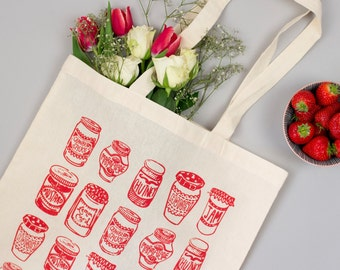 Jam Jars Red Tote Bag