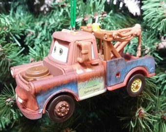 """Miniature """"Mater"""" Cars movie tow truck wrecker Christmas Ornament Free Shipping Happy Holidays"""