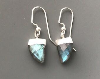 Labradorite Earrings, Gemstone Earrings, Everyday Earrings, Simple Earrings, Handmade Earrings, Dangle Earrings, Boho Earrings