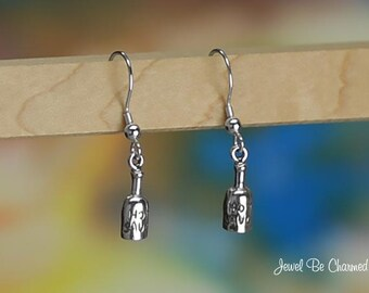Sterling Silver Hot Sauce Earrings Fishhook Earwires Solid .925