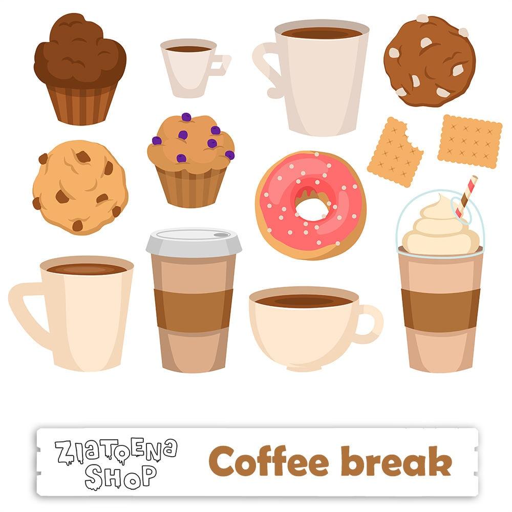 Coffee Break Digital Clip Art Coffee clipart Coffee PNG Coffee