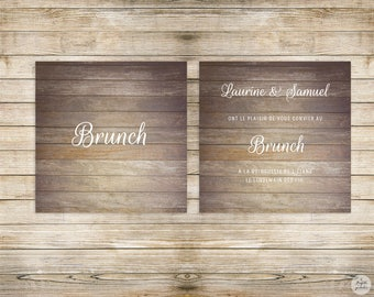Country collection - lunch/Brunch Invitation - wedding invitation