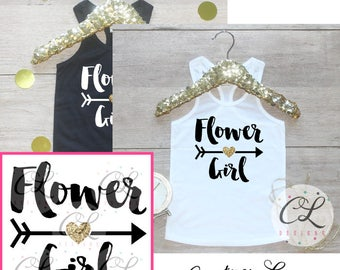 Flower Girl Shirt / Petal Patrol Shirt Flower Girl Outfit Wedding Rehearsal Tank Wedding Shirt Wedding Clothes Cute Flower Girl Shirt 016