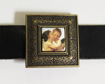 Old Brass Buckle With Angel Photo