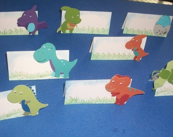 Dinosaur Place/food card - Set of 6