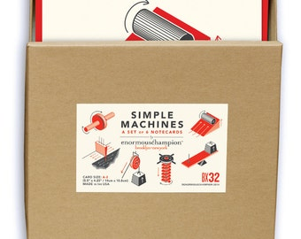 6 SImple Machines - A set of 6 blank notecards
