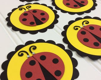 Ladybug Decor, Ladybug Party, Ladybug Birthday Party, Ladybug Tags, Ladybug Labels  (Set of 6) - Birthday Party DIY