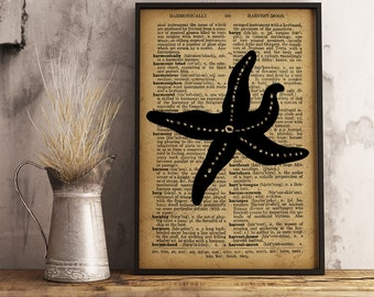 Starfish Decor, Starfish print, Beach House decor, Nautical Decor, Starfish Illustrations, Starfish Print (KR11)