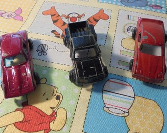 Tootsie Toy Cars,Two Tootsie Toy Cars,One Truck Hong Kong,Vintage,1960's Metal,Die Cast,Miniature Vehicle,Collectible,Father Day,Nursery,