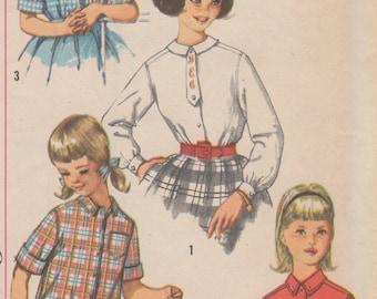USINE plié chemise simplicité 3613 taille 12 poitrine de la jeune fille des années 1950 30 »