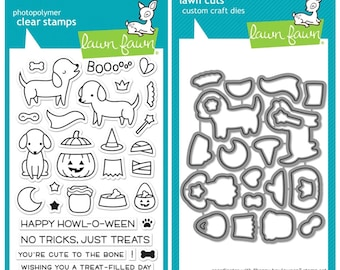 Lawn Fawn Happy Halloween Stamps, Dies